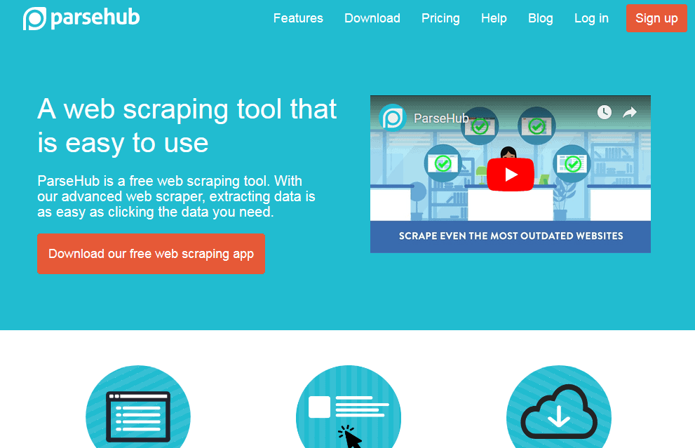 parsehub webscraper